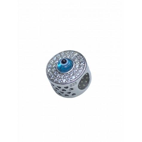 Pandora Uyumlu Işıltılı Nazar Boncuğu 925 Ayar Gümüş Charm NB95