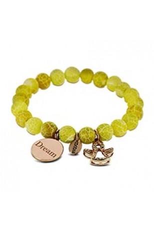 CO88 Melek ve Dream Doğal Sarı Taşlı Kadın Bileklik CB30002