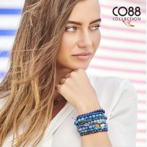CO88 Melek ve Luck Doğal Akik Taşlı Kadın Bileklik CB30003